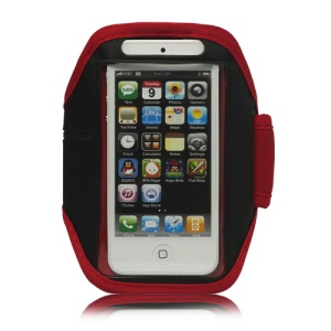 Sport Armband Jogging Workout Case Cover Protector for iPhone 5 - Red