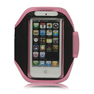 Sport Armband Jogging Workout Case Cover Protector for iPhone 5 - Pink