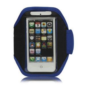 Sport Armband Jogging Workout Case Cover Protector for iPhone 5 - Blue