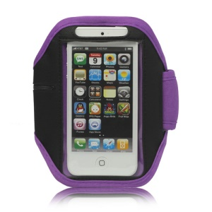 Sport Armband Jogging Workout Case Cover Protector for iPhone 5 - Purple