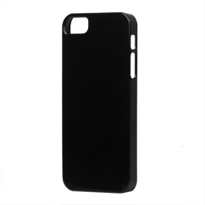 Glossy Slim Hard Plastic Case for iPhone 5 - Black