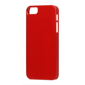 Glossy Slim Hard Plastic Case for iPhone 5 - Red