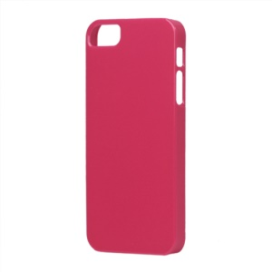 Glossy Slim Hard Plastic Case for iPhone 5 - Rose