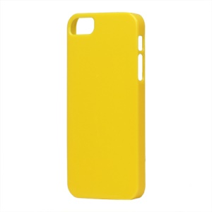Glossy Slim Hard Plastic Case for iPhone 5 - Yellow