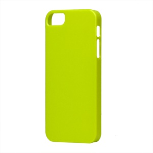 Glossy Slim Hard Plastic Case for iPhone 5 - Green