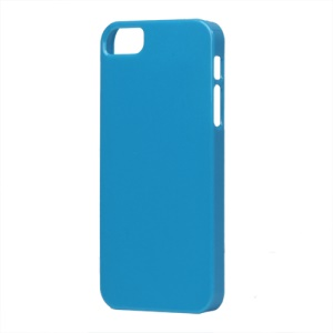 Glossy Slim Hard Plastic Case for iPhone 5 - Blue