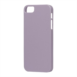 Glossy Slim Hard Plastic Case for iPhone 5 - Purple