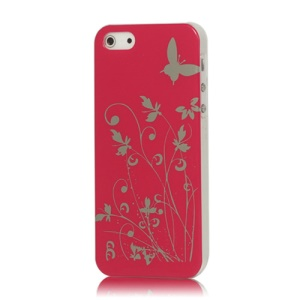 Butterfly Flowers Hard Case for iPhone 5 - Rose
