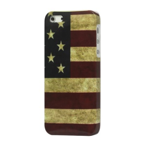 Vintage USA Amerian National Flag Hard Case Cover for iPhone 5
