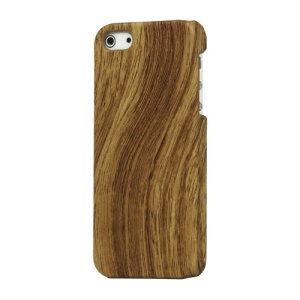 Wood Grain Plastic Hard Case Cover for iPhone 5