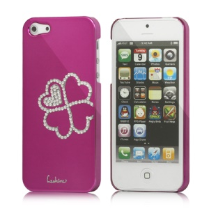 Eileen Clover Electroplating Diamante Case Cover for iPhone 5 - Rose