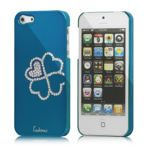 Eileen Clover Electroplating Diamante Case Cover for iPhone 5 - Capri Blue