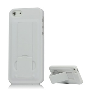 iPhone 5 Rubberized Hard Case with Stand - White