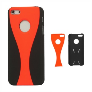 Detachable Goblet Hard Protective Case for iPhone 5 - Black / Orange