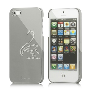 Eileen Swan Electroplating Diamond Cover Case for iPhone 5 - Silver