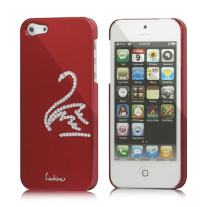 Eileen Swan Electroplating Diamond Cover Case for iPhone 5 - Wine Red