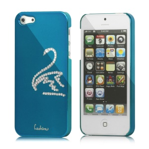 Eileen Swan Electroplating Diamond Cover Case for iPhone 5 - Capri Blue