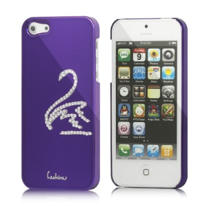 Eileen Swan Electroplating Diamond Cover Case for iPhone 5 - Violet Purple