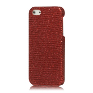 Shiny Flash Sequin Hard Cover for iPhone 5 - Red