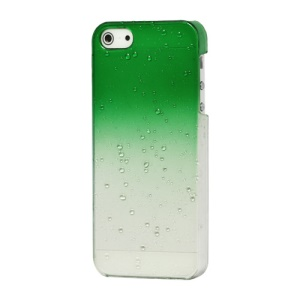 Water Drop Raindrop Shade Hard Skin Case Cover for iPhone 5 - Green