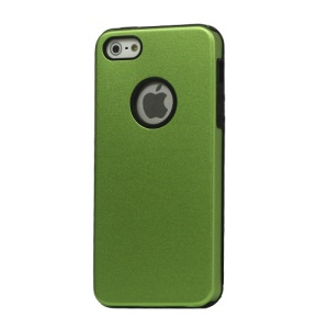 Slim Brushed Aluminium Case Cover for iPhone 5 - Green