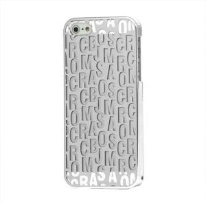 Scrambled Letters Transparent Electroplating Case Cover for iPhone 5 with Packing Box - Silver