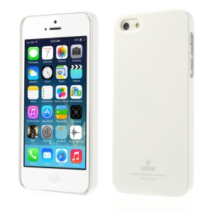 Crok Glossy Plastic Cover for iPhone 5 5s with Screen Protector - White
