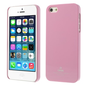 Crok Glossy Plastic Case for iPhone 5 5s with Screen Protector - Pink