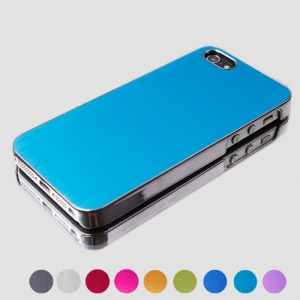 Luxury Electroplating Brushed Aluminium Case Cover for iPhone 5