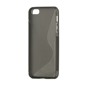 S Shape TPU Gel Case Cover for iPhone 5 - Grey