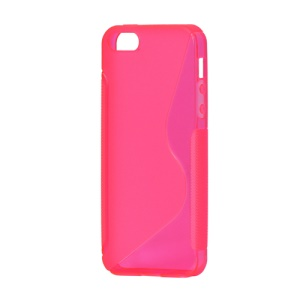 S Shape TPU Gel Case Cover for iPhone 5 - Rose