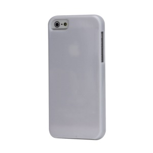 Solid Colour Soft Flexible TPU Gel Case for iPhone 5 - White