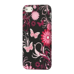 Butterfly Flora TPU Gel Case Cover for iPhone 5