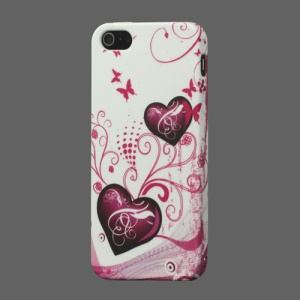 Two Hearts TPU Cover Case for iPhone 5