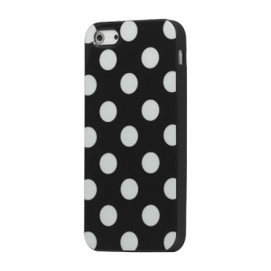 Polka Dot TPU Gel Case for iPhone 5 - Black
