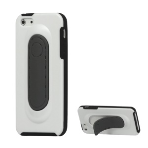 TPU and Plastic Hybrid Stand Case Cover for iPhone 5