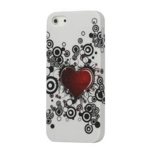 Red Heart for iPhone 5 5s TPU Case Cover