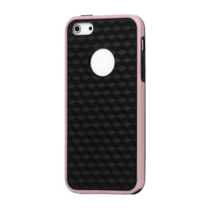 Cube Square TPU Cover Case for iPhone 5 - Pink