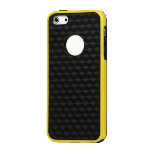 Cube Square TPU Cover Case for iPhone 5 - Yellow