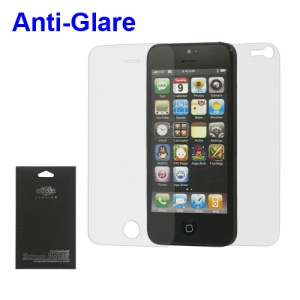 Anti-glare Front and Back LCD Screen Guard Film for iPhone 5