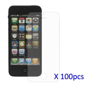 100PCS Clear LCD Screen Guard Film for iPhone 5