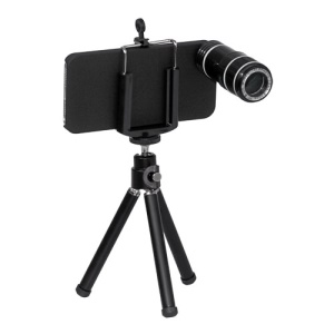 12X Optical Zoom Telescope Camera Lens with Tripod Stand for iPhone 5