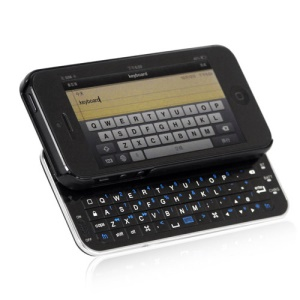 Ultra-thin Slide-out Wireless Bluetooth Keyboard with Hard Case for iPhone 5