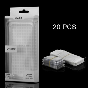 20PCS/Lot Plastic Packing Box + Inner Plastic Frame for iPhone 5 Case, Size: 14 x 7.3 x 2cm