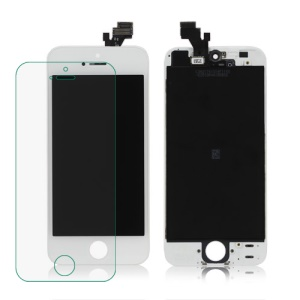 For iPhone 5 LCD Assembly with Touch Screen and Digitizer Frame - White