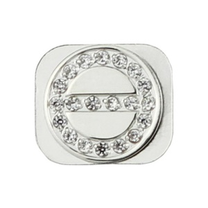 Screw Shaped Rhinestone Home Button Key for iPhone 5 - Silver