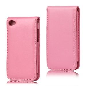 Vertical Leather Flip Case for iPod Touch 4 - Pink
