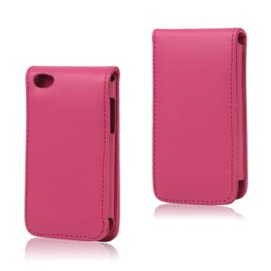 Vertical Leather Flip Case for iPod Touch 4 - Rose