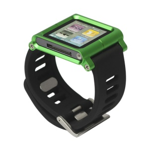 Aluminum Bracelet Watch Band Wrist Cover Case for iPod Nano 6 6th Gen - Green