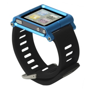 Aluminum Bracelet Watch Band Wrist Cover Case for iPod Nano 6 6th Gen - Blue